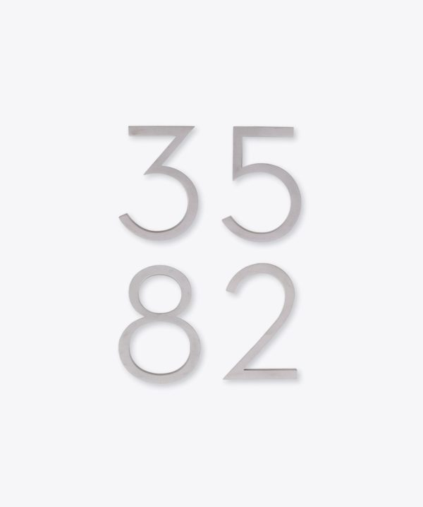 Modern House Numbers 2